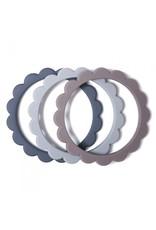 Mushie Bracelet de dentition - Steel / dark grey / Stone