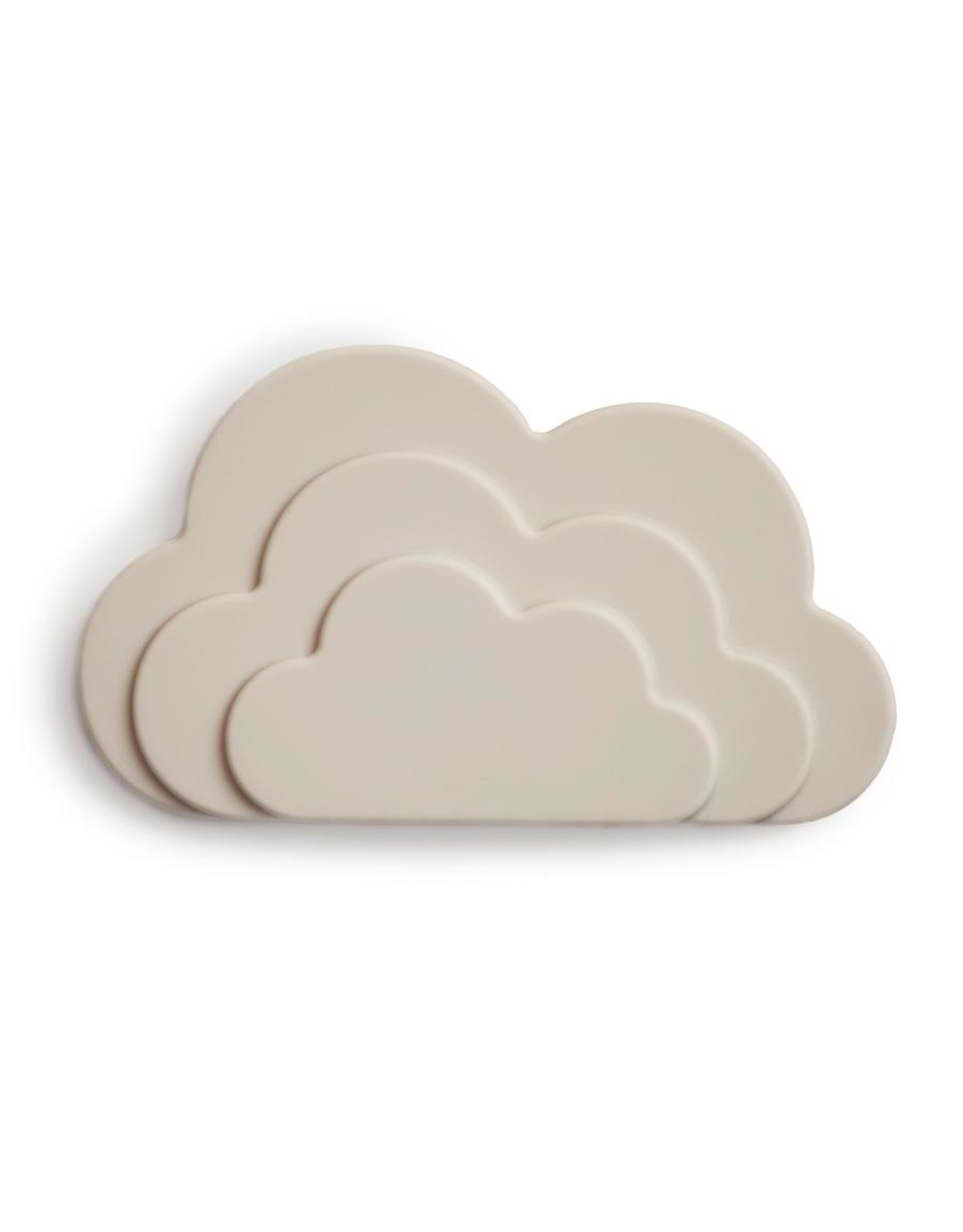 Mushie Anneau de dentition nuage - gray