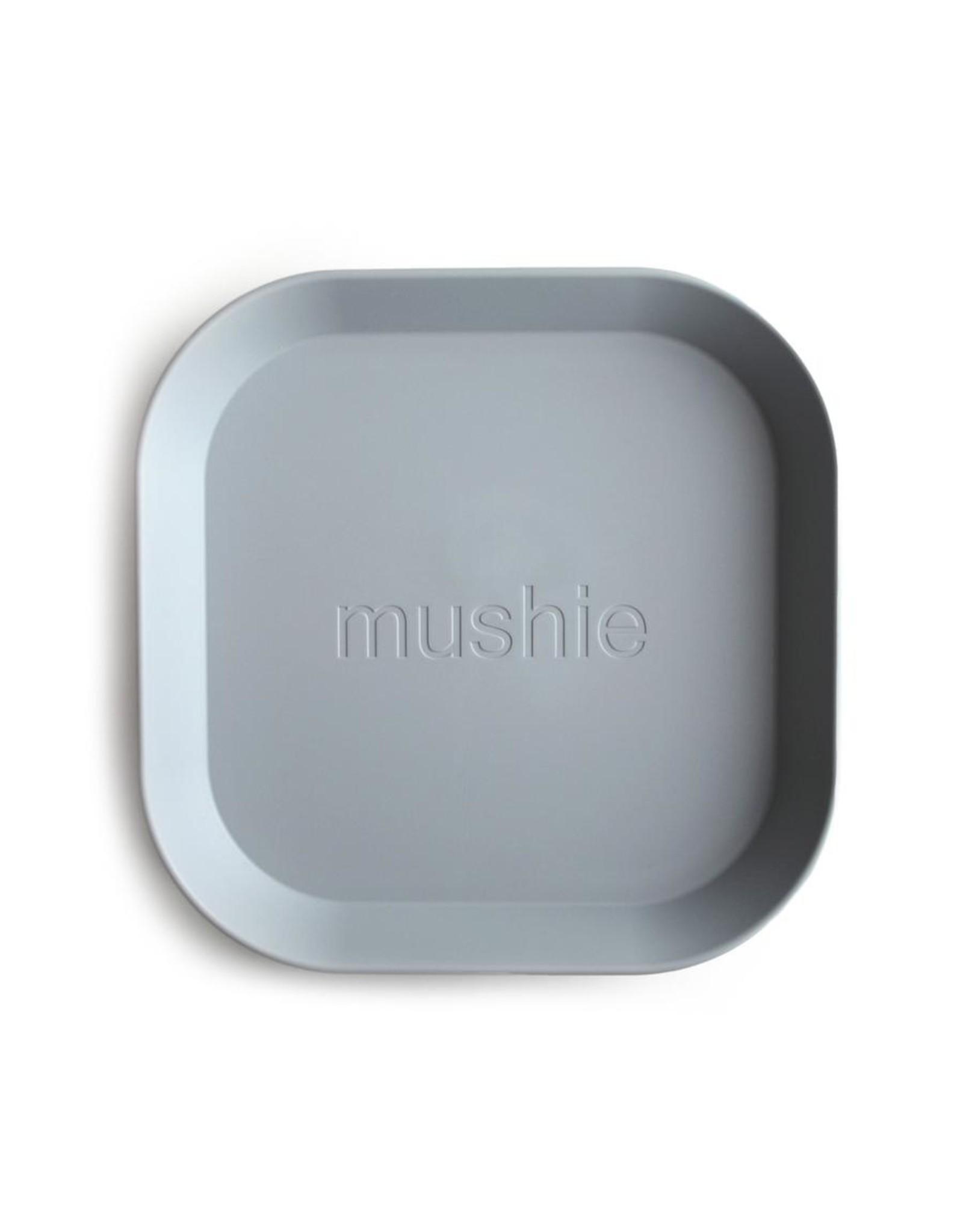 Mushie Lot de 2 assiettes - cloud
