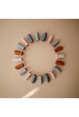Mushie Brosse à dents bébé 2pcs - Shifting sand & Clay