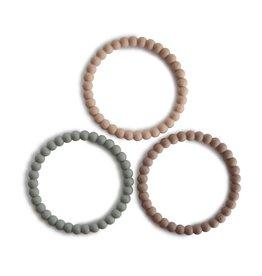 Mushie Mushie - silicone  bracelet - Clary sage / tuscany / dessert sand
