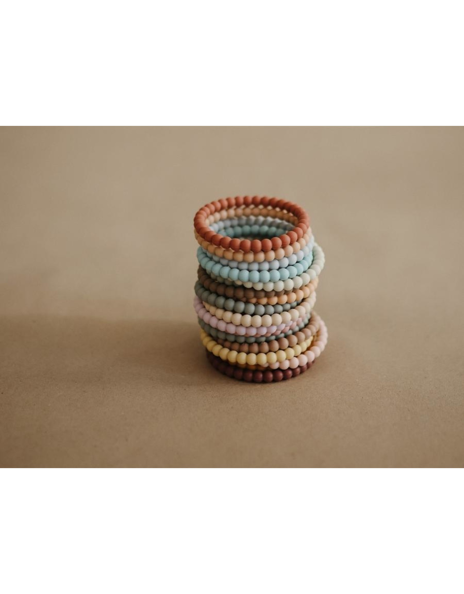 Mushie Mushie - silicone  bracelet - Lilac / cyan / peach