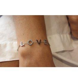 Buzios23 Bracelet  -  LOVE - argenté