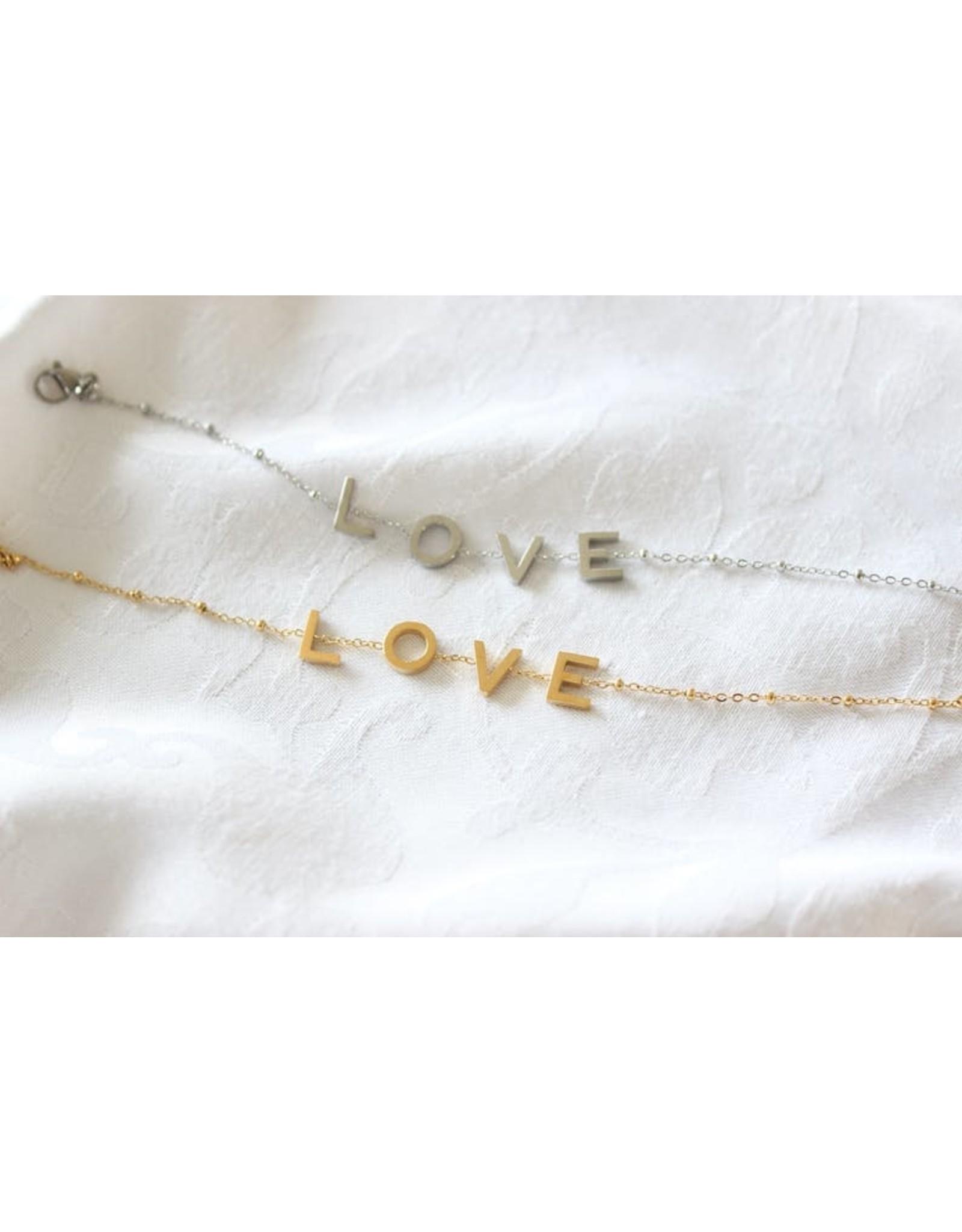 Buzios23 BraceletThalia  -  LOVE - argenté