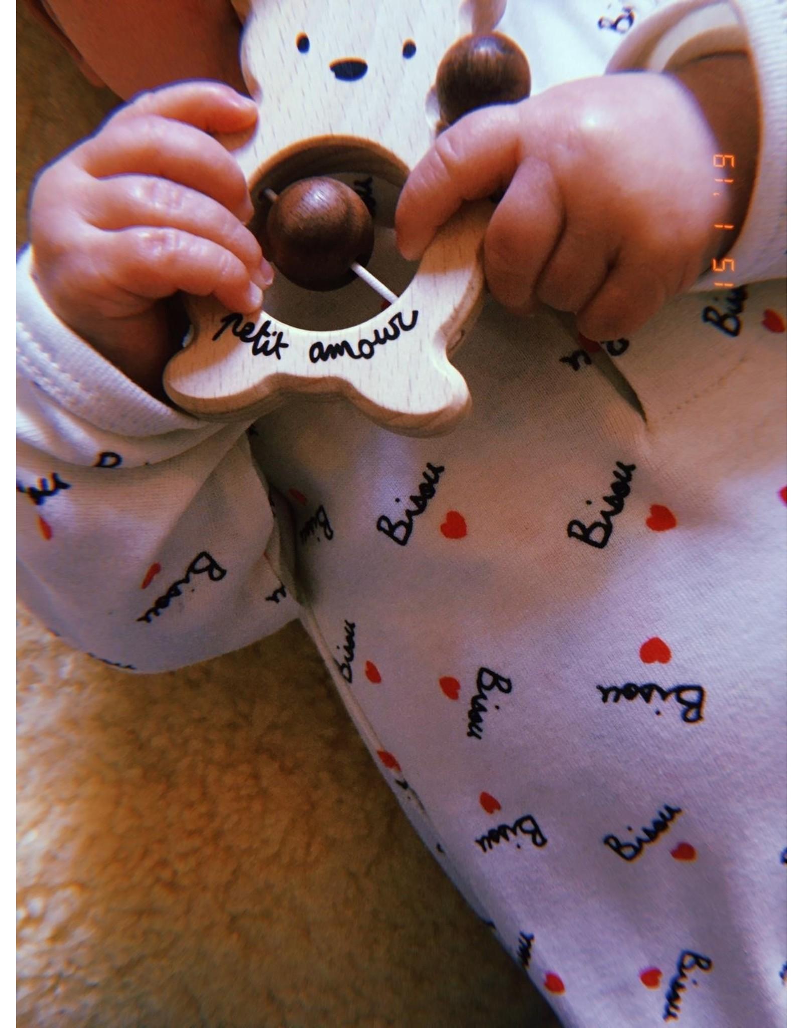Mathilde Cabanas Pyjama bébé - print Bisou all over
