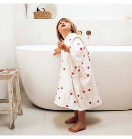 Rose in april Poncho de bain suzon M 4-6 ans - Coeur