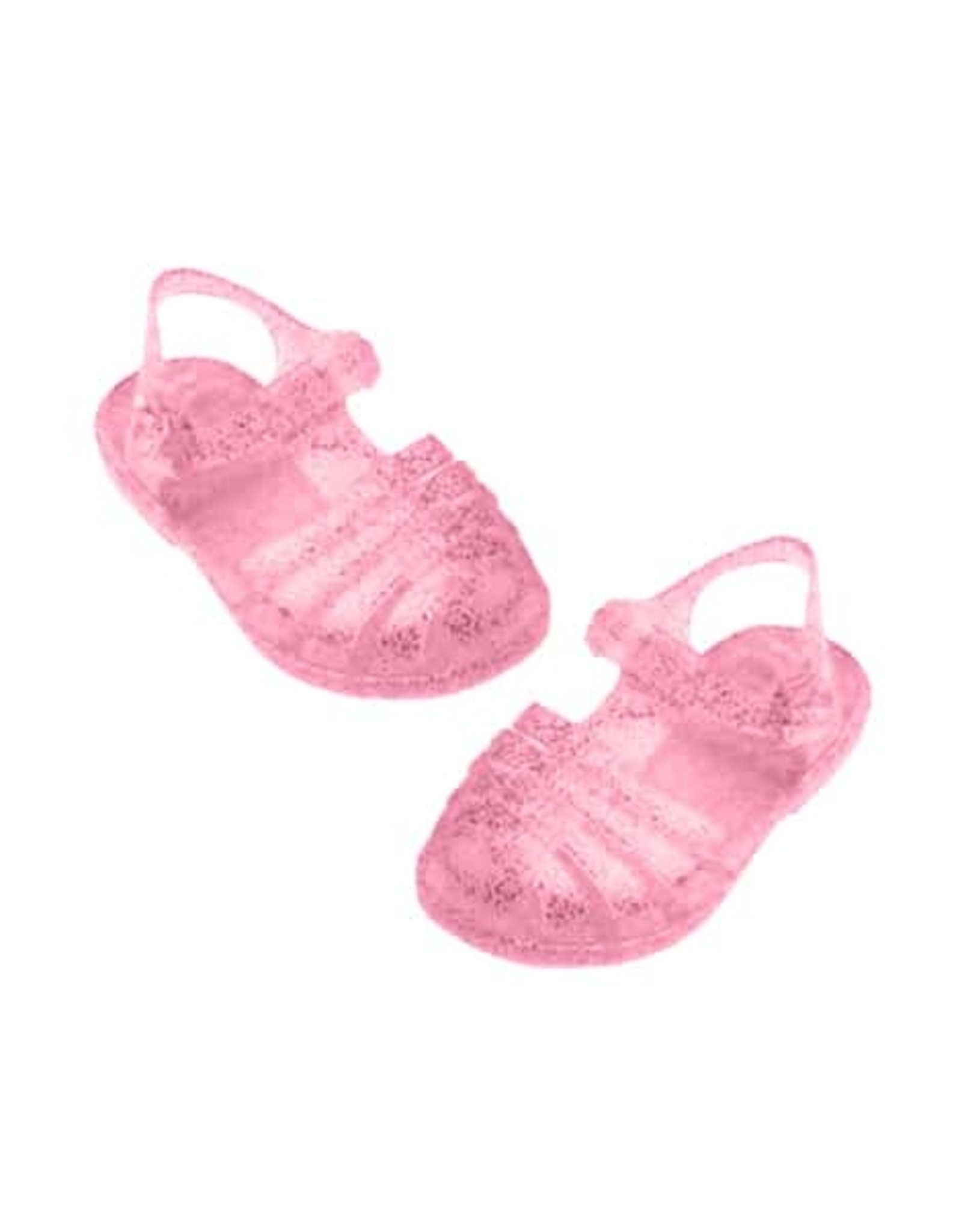 Paola Reina Sandales de plage SUN pour poupée - rose paillettes
