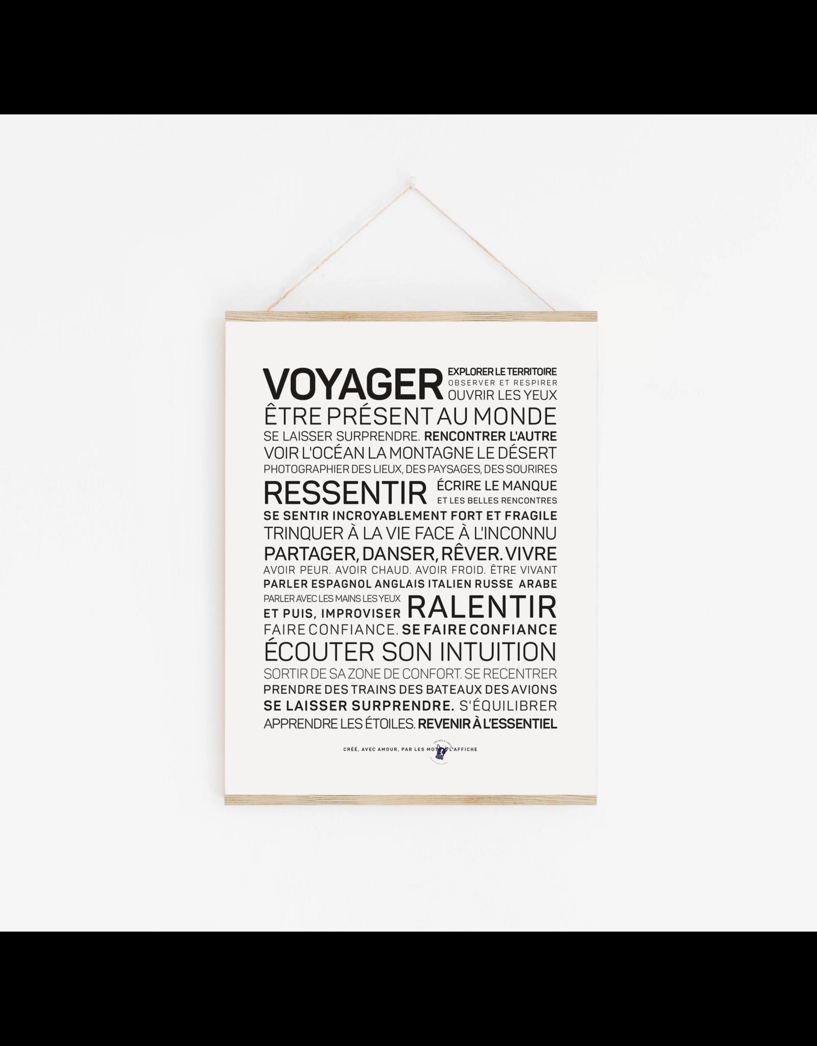 Les Mots à l'affiche Affiche - Voyager
