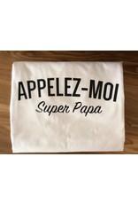 La Source T-shirt homme - blanc  - Appelez-moi Super Papa