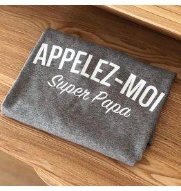 La Source T-shirt homme - gris mid  - Appelez-moi Super Papa