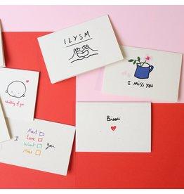 Mathilde Cabanas Petite carte  - Bisou