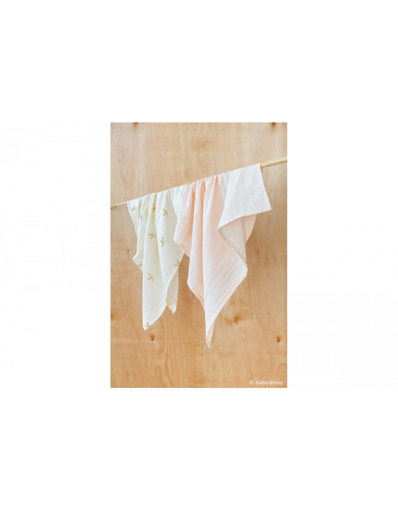nobodinoz Lange Baby Love • dream pink - 70x70