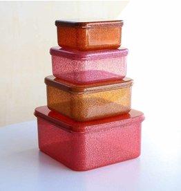 A Little Lovely Company Lot 4 boites - Rose paillettes