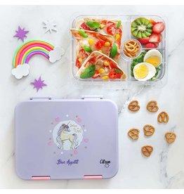 Citron Lunch box - mauve - licorne - 4 compartiments