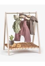 Paola Reina Porte vêtements Wendy en bois et en osier