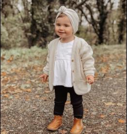 Mlle Beuz Bonnet / turban noeud - crème