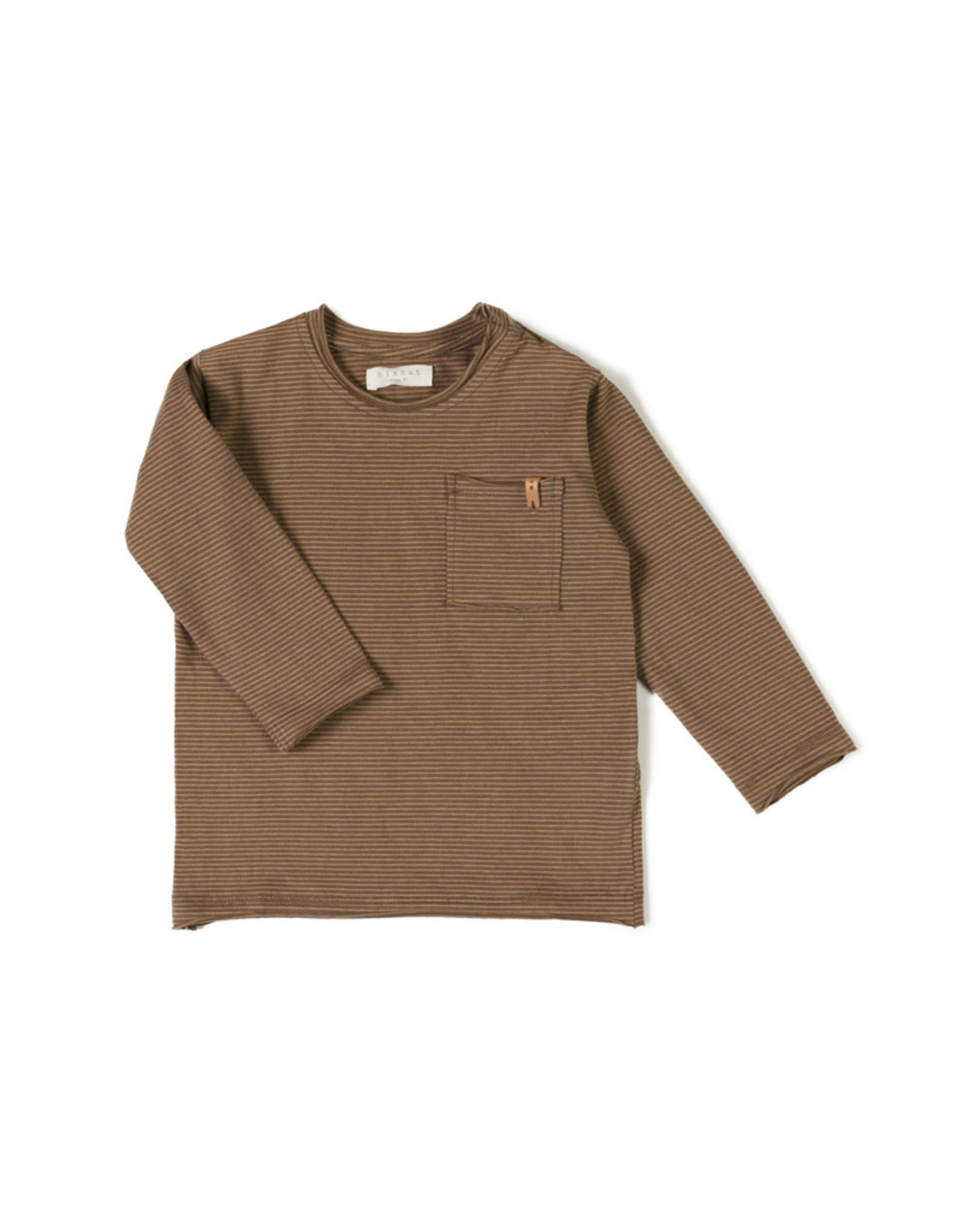 Nixnut T-shirt ligné - Toffee