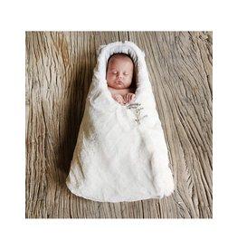 Baby Shower Chancelière en teddy Snow blanc