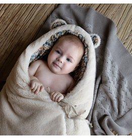 Baby Shower Chancelière en teddy beige - intérieur Poppies