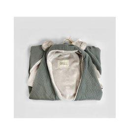 Baby Shower Couverture polaire + oreilles  - Grey powder