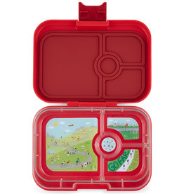 Yumbox Boîte à tartines Panino  - 4 compartiments - rouge - bike