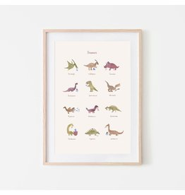 Mushie Poster large - Dinos