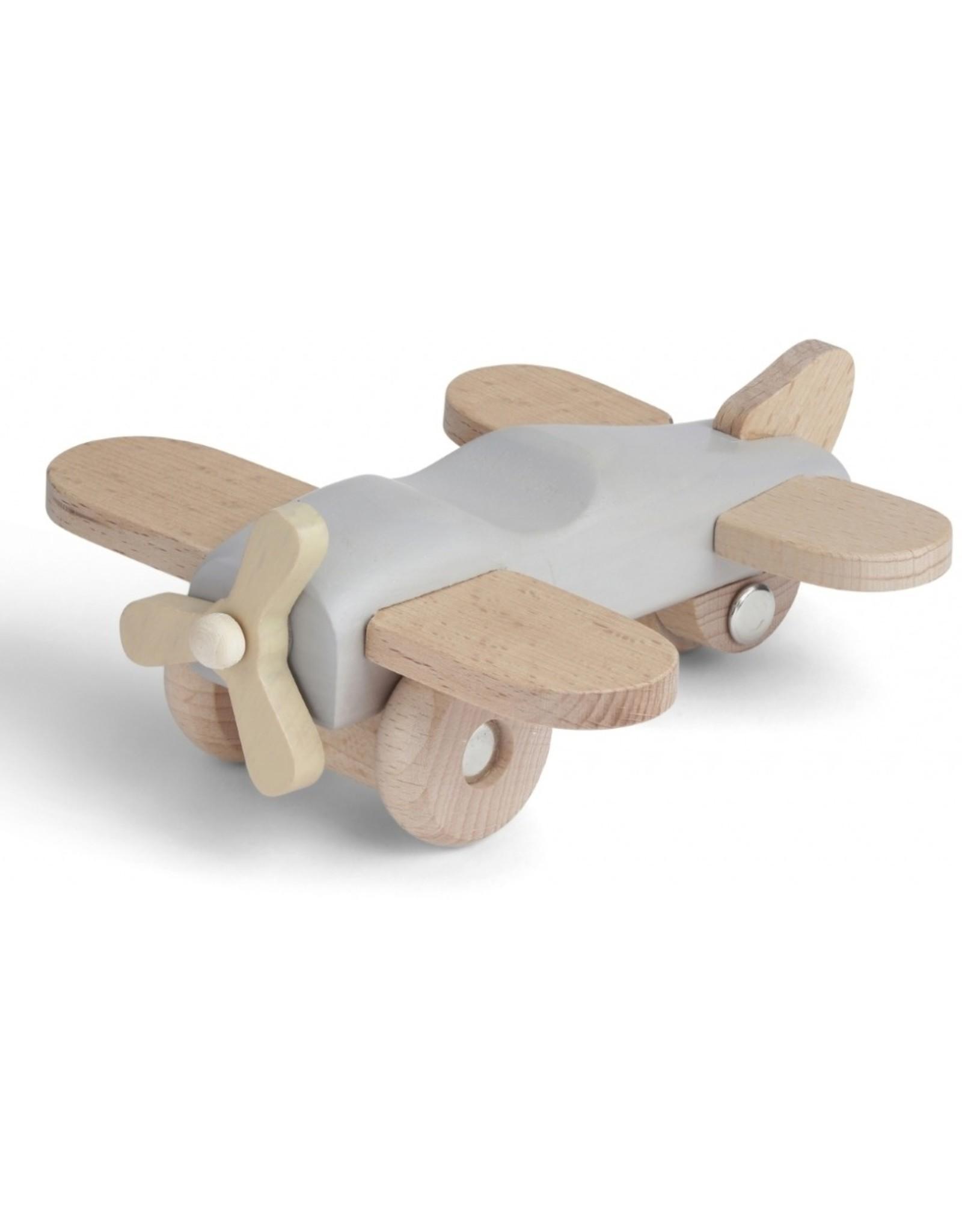 Konges Slojd Avion en bois - gris