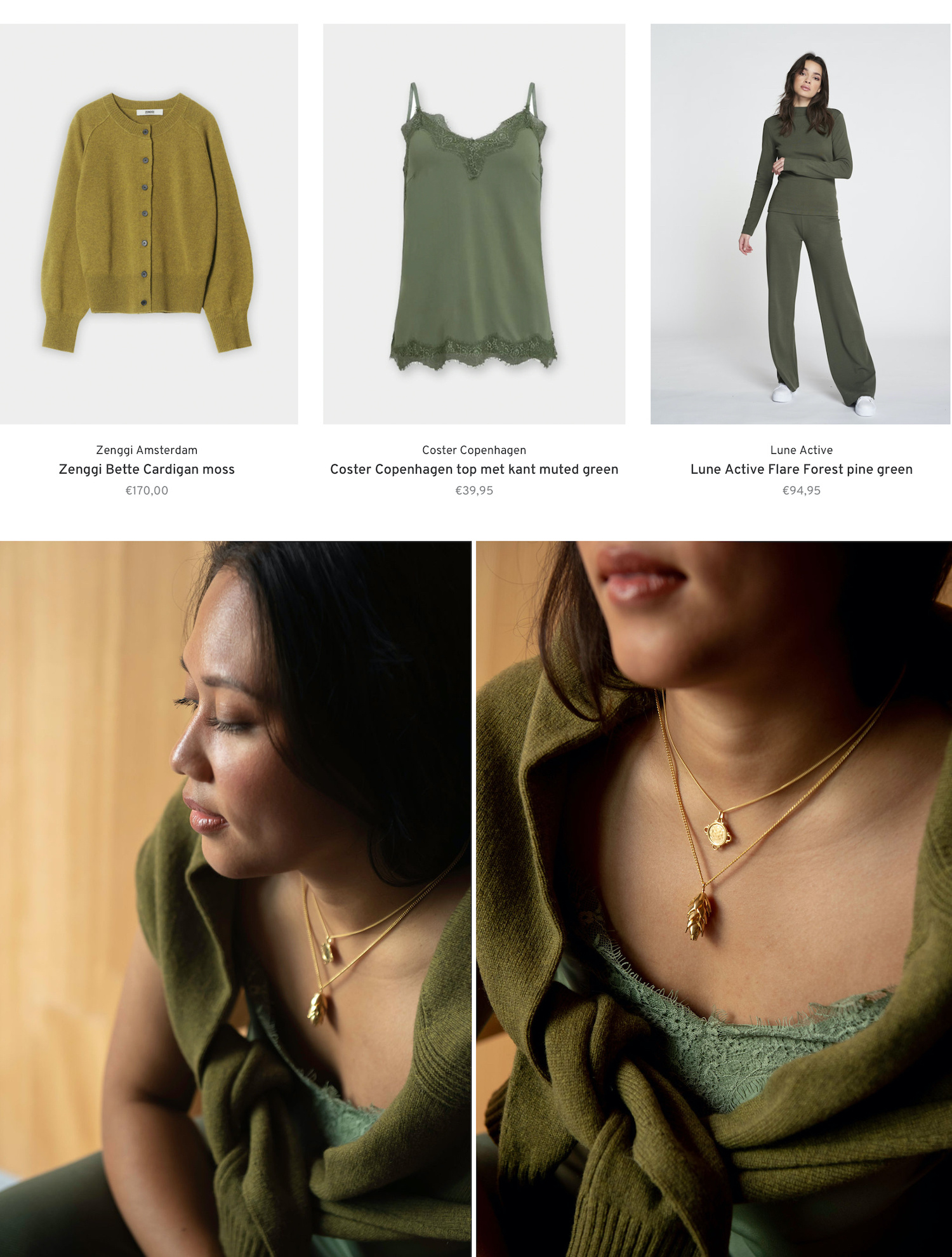 Shop the look trend green