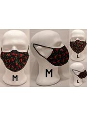 Kirschlolli Kirschlolli - Stoffmaske mit Draht - Schwarz - Größe M oder L - Handmade