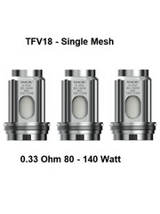 SMOK TFV18 - Verdampferköpfe - Single Mesh Coils - 0.33 Ohm - 3er Pack