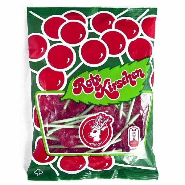 Hirsch Hirsch Rote Kirschen 100 g - Lollis mit Kirsch Geschmack