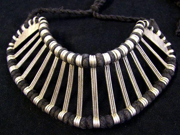 Tribal Silber Choker