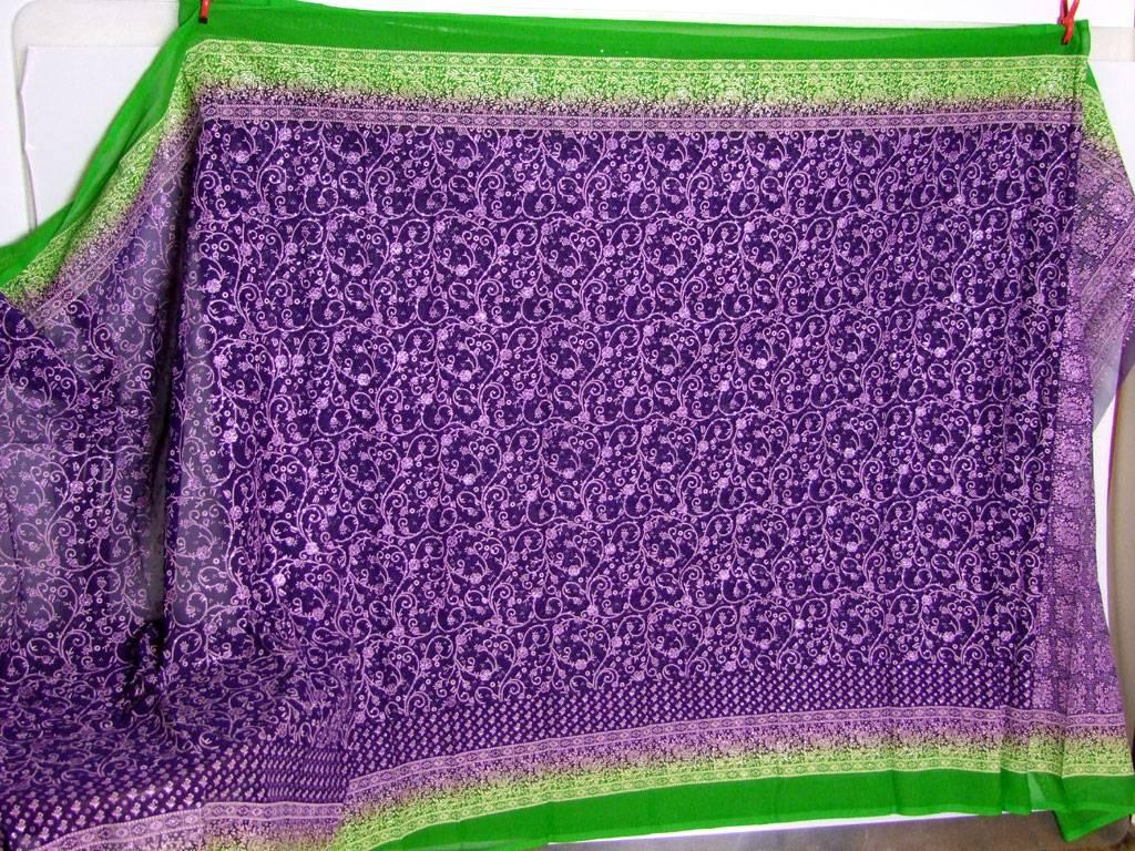 Jodha mharani Sari lila/ grün