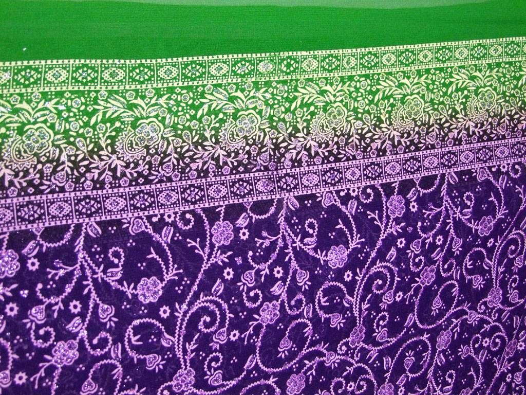 Jodha mharani Saree purple/ green