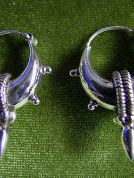 Silver Bali Earrings with spike small