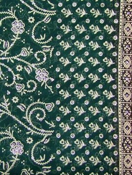 Jodha mharani Saree green/ red