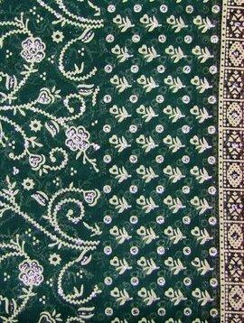 Jodha mharani Sari grün/ rot