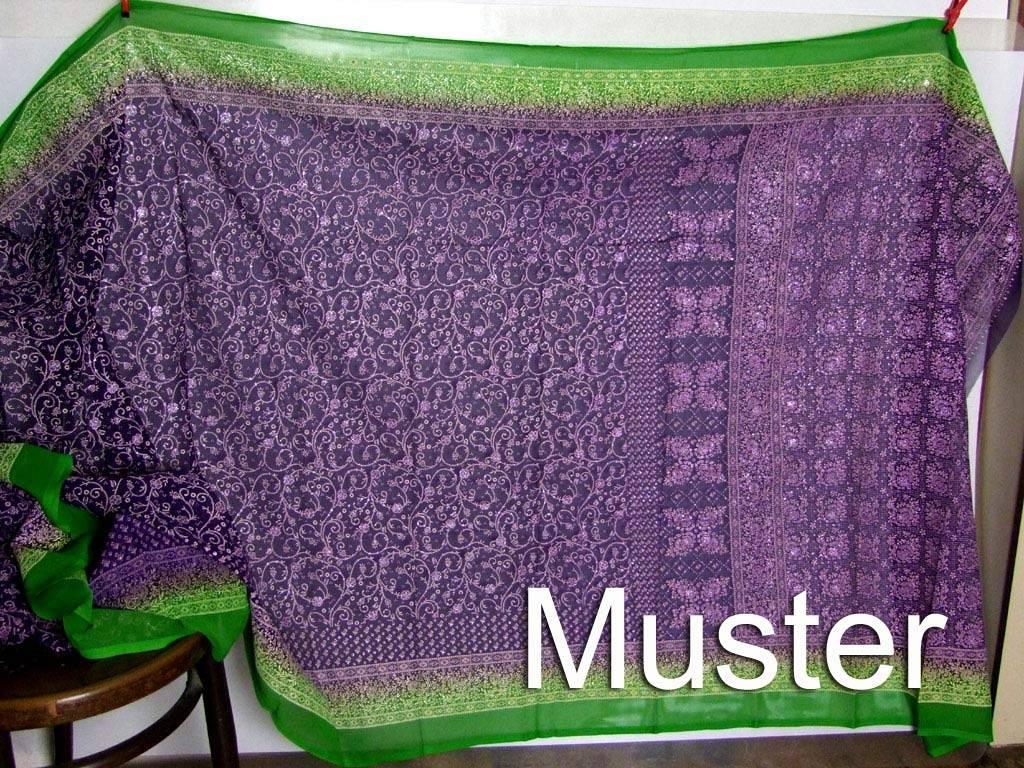 Jodha mharani Saree teal/ purple