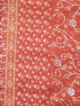 Jodha mharani Sari matt orange/ weinrot