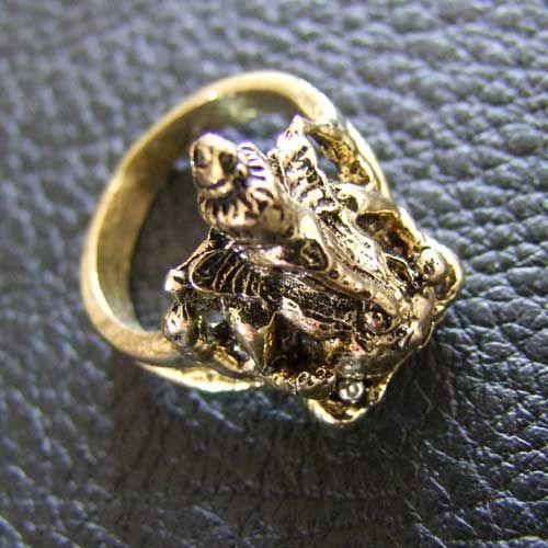 Tribal brass ring