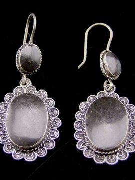 Silver Earrings Ethno style