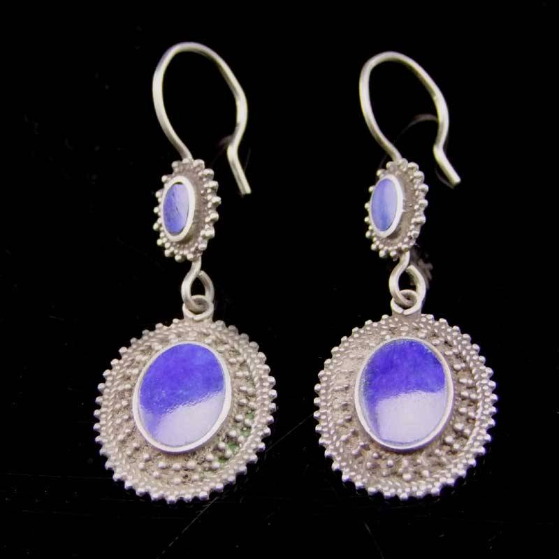 Silver Earrings Ethno style