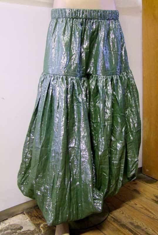 Shimmer Lurex Pantaloons green