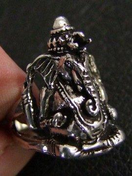 Silber Ring Ganesh