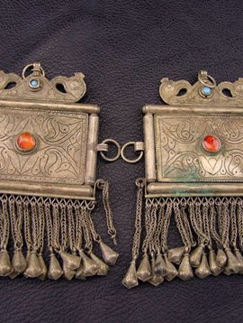 Large Tribal Pendants, pair