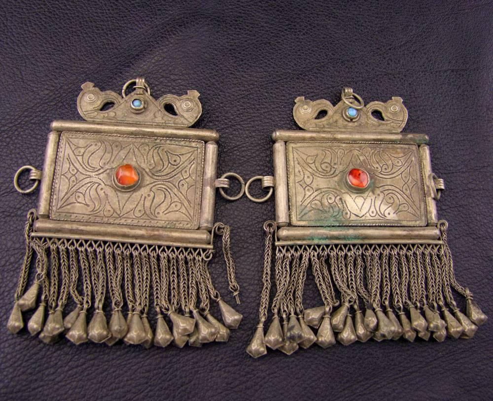 Large Tribal Pendants, pair