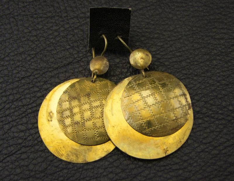 Tuareg brass earrings