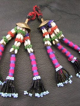 Tribal Tassel, pair