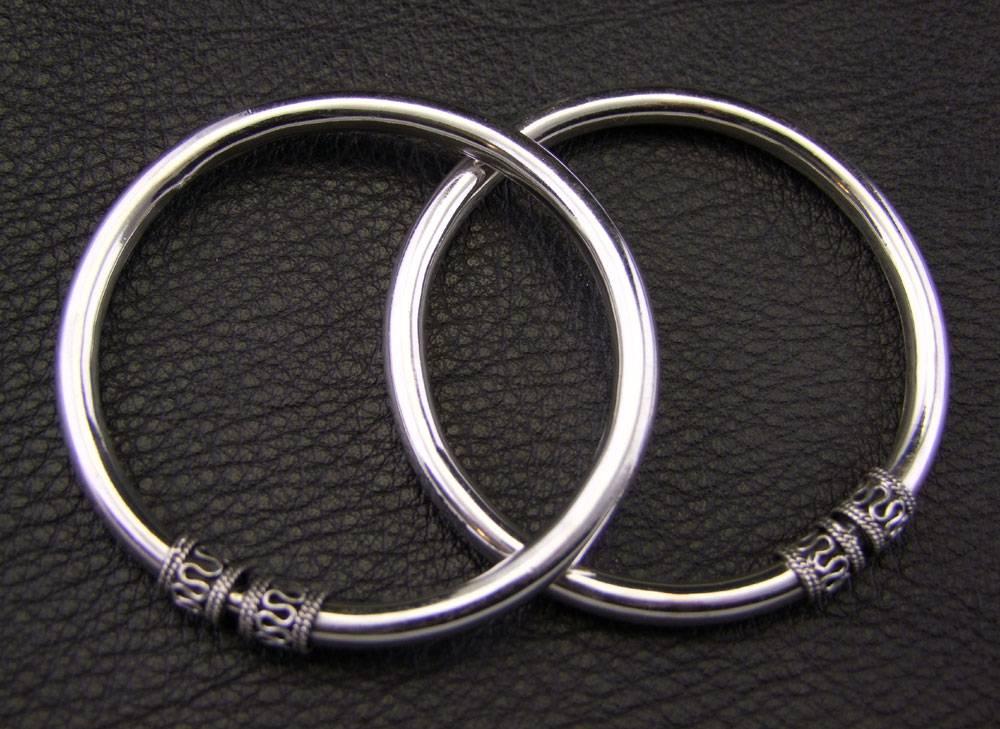 Silber Ohrringe/ Bangles