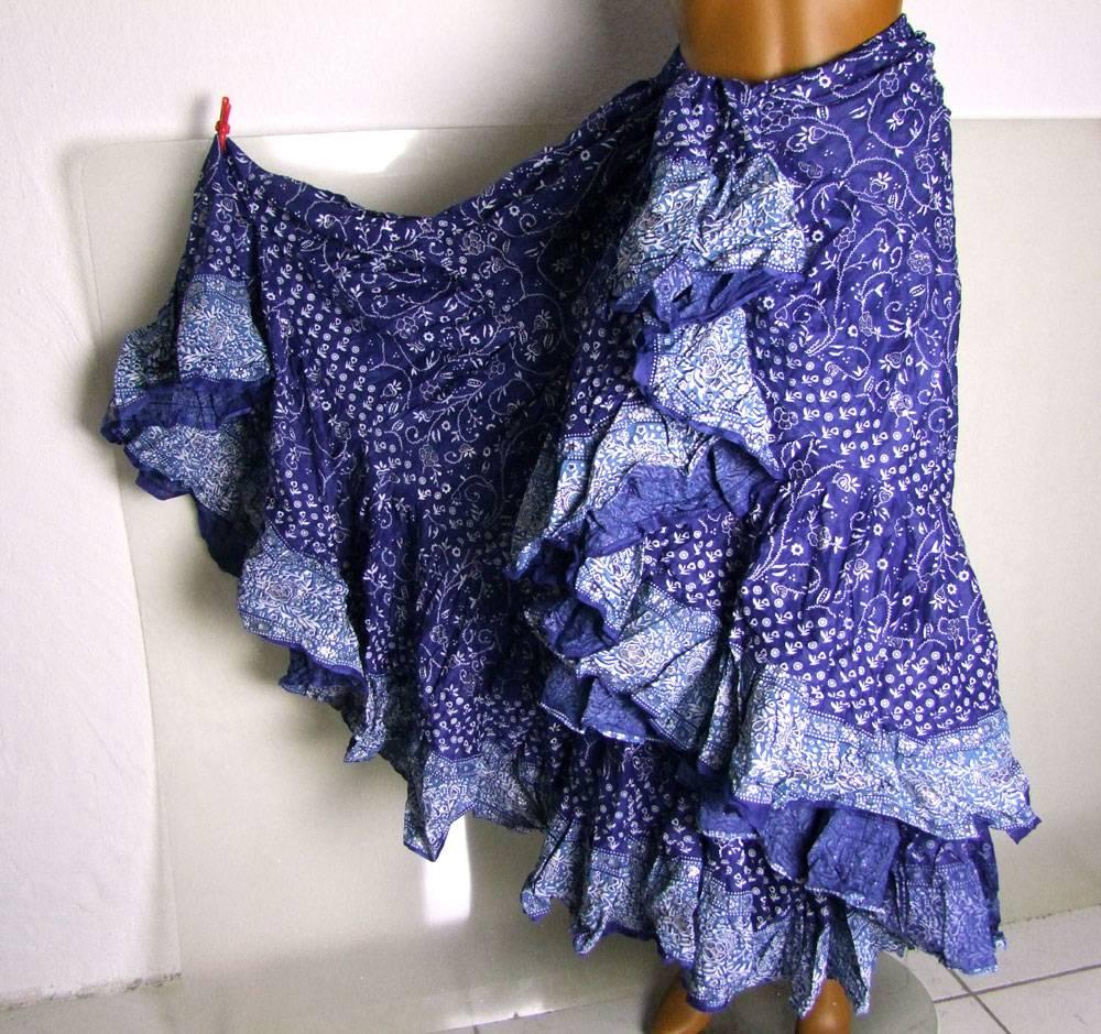 Tribalskirt 24 yards blockprinted style